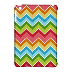Colorful Background Of Chevrons Zigzag Pattern Apple Ipad Mini Hardshell Case (compatible With Smart Cover) by Simbadda