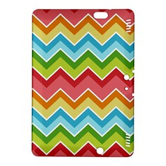 Colorful Background Of Chevrons Zigzag Pattern Kindle Fire Hdx 8 9  Hardshell Case by Simbadda