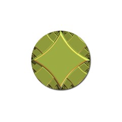 Fractal Green Diamonds Background Golf Ball Marker by Simbadda