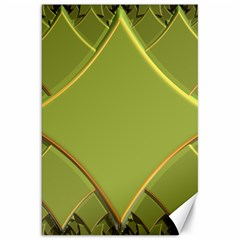 Fractal Green Diamonds Background Canvas 20  X 30   by Simbadda