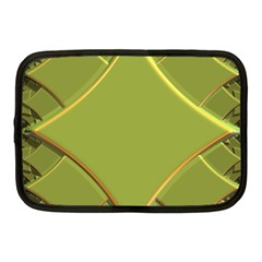 Fractal Green Diamonds Background Netbook Case (medium)  by Simbadda