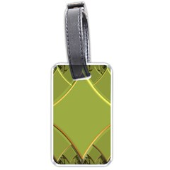 Fractal Green Diamonds Background Luggage Tags (two Sides) by Simbadda