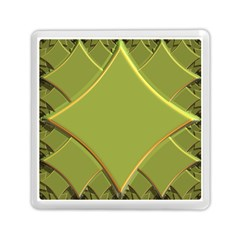 Fractal Green Diamonds Background Memory Card Reader (square)  by Simbadda