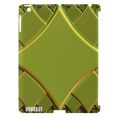 Fractal Green Diamonds Background Apple Ipad 3/4 Hardshell Case (compatible With Smart Cover) by Simbadda