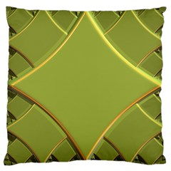 Fractal Green Diamonds Background Large Cushion Case (two Sides) by Simbadda