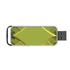 Fractal Green Diamonds Background Portable Usb Flash (two Sides) by Simbadda