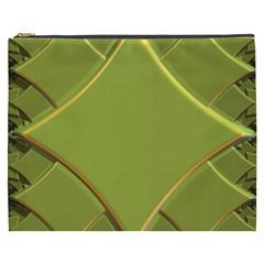Fractal Green Diamonds Background Cosmetic Bag (xxxl)  by Simbadda
