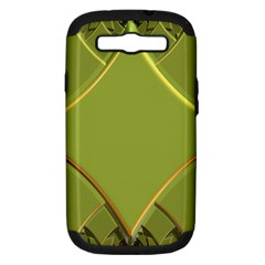 Fractal Green Diamonds Background Samsung Galaxy S Iii Hardshell Case (pc+silicone) by Simbadda