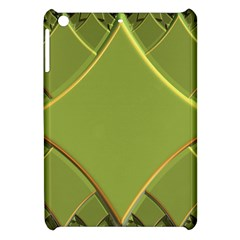 Fractal Green Diamonds Background Apple Ipad Mini Hardshell Case by Simbadda
