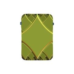 Fractal Green Diamonds Background Apple Ipad Mini Protective Soft Cases by Simbadda
