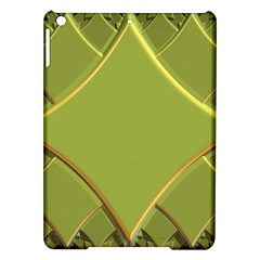 Fractal Green Diamonds Background Ipad Air Hardshell Cases by Simbadda