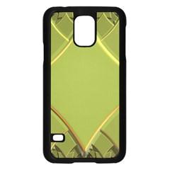 Fractal Green Diamonds Background Samsung Galaxy S5 Case (black) by Simbadda