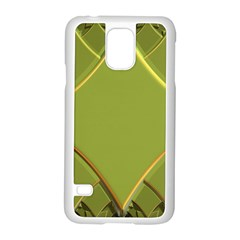 Fractal Green Diamonds Background Samsung Galaxy S5 Case (white) by Simbadda