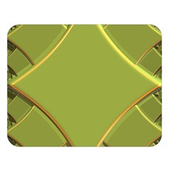 Fractal Green Diamonds Background Double Sided Flano Blanket (large)  by Simbadda