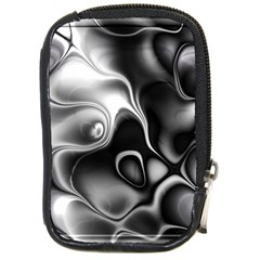 Fractal Black Liquid Art In 3d Glass Frame Compact Camera Cases by Simbadda