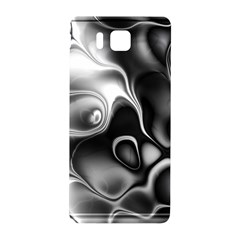 Fractal Black Liquid Art In 3d Glass Frame Samsung Galaxy Alpha Hardshell Back Case by Simbadda