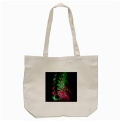 Pink And Green Shapes Make A Pretty Fractal Image Tote Bag (cream) by Simbadda