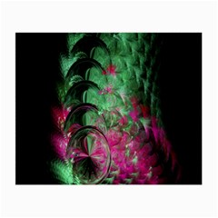 Pink And Green Shapes Make A Pretty Fractal Image Small Glasses Cloth by Simbadda