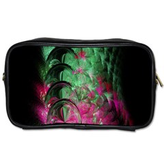 Pink And Green Shapes Make A Pretty Fractal Image Toiletries Bags 2 Side by Simbadda