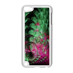 Pink And Green Shapes Make A Pretty Fractal Image Apple Ipod Touch 5 Case (white) by Simbadda