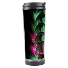 Pink And Green Shapes Make A Pretty Fractal Image Travel Tumbler by Simbadda