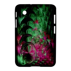 Pink And Green Shapes Make A Pretty Fractal Image Samsung Galaxy Tab 2 (7 ) P3100 Hardshell Case  by Simbadda