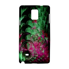 Pink And Green Shapes Make A Pretty Fractal Image Samsung Galaxy Note 4 Hardshell Case by Simbadda