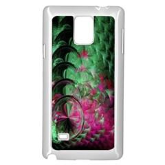 Pink And Green Shapes Make A Pretty Fractal Image Samsung Galaxy Note 4 Case (white) by Simbadda