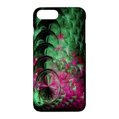 Pink And Green Shapes Make A Pretty Fractal Image Apple Iphone 7 Plus Hardshell Case by Simbadda