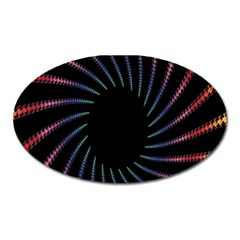 Fractal Black Hole Computer Digital Graphic Oval Magnet by Simbadda