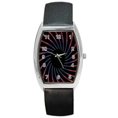 Fractal Black Hole Computer Digital Graphic Barrel Style Metal Watch by Simbadda