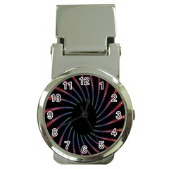 Fractal Black Hole Computer Digital Graphic Money Clip Watches by Simbadda