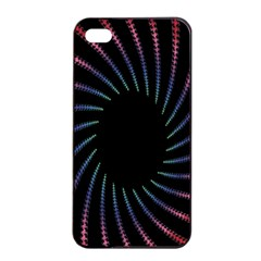 Fractal Black Hole Computer Digital Graphic Apple Iphone 4/4s Seamless Case (black) by Simbadda