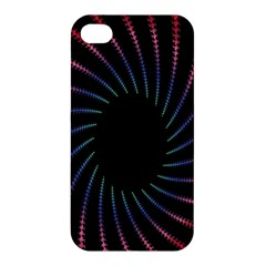 Fractal Black Hole Computer Digital Graphic Apple Iphone 4/4s Premium Hardshell Case by Simbadda