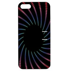 Fractal Black Hole Computer Digital Graphic Apple Iphone 5 Hardshell Case With Stand by Simbadda
