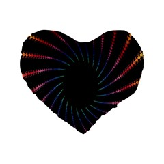 Fractal Black Hole Computer Digital Graphic Standard 16  Premium Flano Heart Shape Cushions by Simbadda