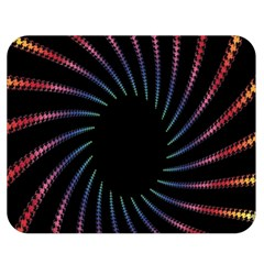 Fractal Black Hole Computer Digital Graphic Double Sided Flano Blanket (medium)  by Simbadda
