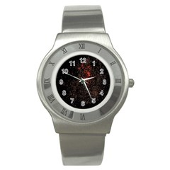 July 4th Fireworks Party Stainless Steel Watch by Simbadda