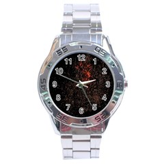 July 4th Fireworks Party Stainless Steel Analogue Watch by Simbadda
