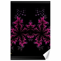 Violet Fractal On Black Background In 3d Glass Frame Canvas 20  X 30   by Simbadda