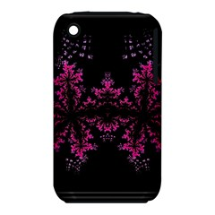 Violet Fractal On Black Background In 3d Glass Frame Iphone 3s/3gs by Simbadda