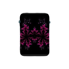 Violet Fractal On Black Background In 3d Glass Frame Apple Ipad Mini Protective Soft Cases by Simbadda