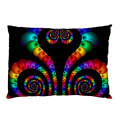 Fractal Drawing Of Phoenix Spirals Pillow Case by Simbadda