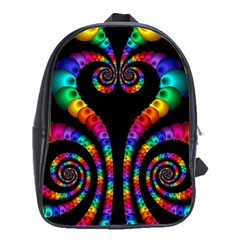 Fractal Drawing Of Phoenix Spirals School Bags(large)  by Simbadda