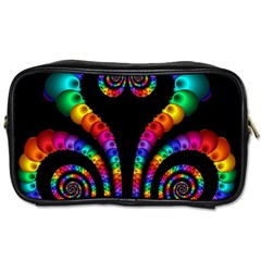 Fractal Drawing Of Phoenix Spirals Toiletries Bags by Simbadda