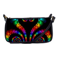 Fractal Drawing Of Phoenix Spirals Shoulder Clutch Bags by Simbadda