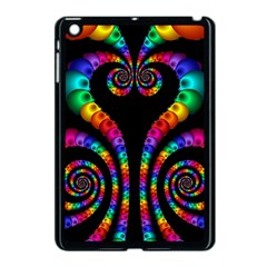 Fractal Drawing Of Phoenix Spirals Apple Ipad Mini Case (black) by Simbadda