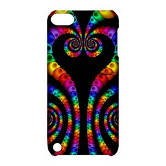 Fractal Drawing Of Phoenix Spirals Apple Ipod Touch 5 Hardshell Case With Stand by Simbadda