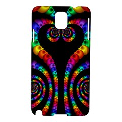 Fractal Drawing Of Phoenix Spirals Samsung Galaxy Note 3 N9005 Hardshell Case by Simbadda