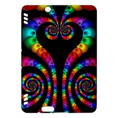 Fractal Drawing Of Phoenix Spirals Kindle Fire HDX Hardshell Case